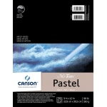 "Canson® Mi-Teintes® Artist Series 9"" x 12"" Fold Over Bound Pad Black: Fold Over, Black/Gray, Pad, 24 Sheets, 9"" x 12"", Heavy, Light, (model C100510866), price per 24 Sheets pad"