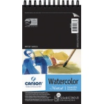 "Canson® Montval® Artist Series 5 1/2"" x 8 1/2"" Cold Press Watercolor Pad (Top Wire): Wire Bound, White/Ivory, Pad, 12 Sheets, 5 1/2"" x 8 1/2"", Cold Press, (model C100511057), price per 12 Sheets pad"
