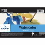 "Canson® Montval® Artist Series 4"" x 6"" Watercolor Cold Press Block 140lb/300g: Fold Over, White/Ivory, Block, 15 Sheets, 4"" x 6"", Cold Press, (model C100511061), price per each"