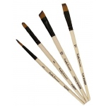 Daler-Rowney Simply Simmons Work Horse 4-Brush Set: Synthetic Bristle, Acrylic, (model SS255400001), price per set