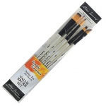 Daler-Rowney Simply Simmons Pure Spring Watercolor 5-Brush Set: Synthetic Bristle, Acrylic, (model SS255500006), price per set