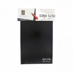 "Richeson Lino Grip 7.5"" x 10.25"" 24-Pack: Black/Gray, 7 1/2"" x 10 1/4"", Block Grip, (model 698995), price per pack"