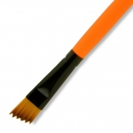 Dynasty® Urban FX Synthetic Saw Curve Brush 1/2: Long Handle, Synthetic, Saw Curve, 1/2, Urban Art