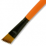 Dynasty® Urban FX Synthetic Saw Curve Brush 3/4: Long Handle, Synthetic, Saw Curve, 3/4, Urban Art