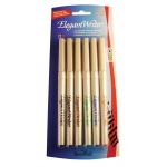 Speedball® Elegant Writer® Calligraphy 6-Color Medium Marker Set: Multi, Dye-Based, Medium Nib, Calligraphy, (model S2882), price per set
