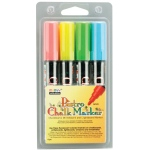 Marvy® Bistro Chalkboard and Lightboard 4-Color Set B: Multi, (model MR480-4B), price per set