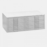 "Mayline® 10-Drawer C-File White: 1000 Sheets, White/Ivory, Steel, 10-Drawer, 41 3/8""d x 53 3/4""w x 15 3/8""h"