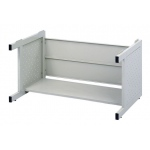 "Safco® Facil™ High Base for Medium Flat File: Black/Gray, Steel, 31 3/4""d x 46 1/4""w x 20 3/4""h, (model 4974), price per each"
