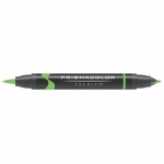 Prismacolor® Premier Brush Marker Neon Green: Green, Double-Ended, Alcohol-Based, Dye-Based, Brush Nib, Fine Nib, (model PB181), price per each