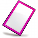 "Gagne Porta-Trace LED Light Panel: 8"" x 11"", Pink"