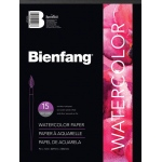 "Bienfang® 9"" x 12"" Watercolor Pad: White/Ivory, Pad, 15 Sheets, 9"" x 12"", Cold Press, Medium, 140 lb, (model 538H-421), price per 15 Sheets pad"