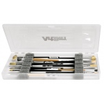 "ArtBin Brush Box with Foam Inserts: Translucent, 14"" x 6"" x 1.25"""
