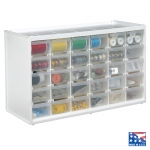 "ArtBin Store-In-Drawer Small Drawer Cabinet: White with 30 Trans. Drawers: 14.38"" x 6"" x 8.75"""