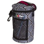Mini Yarn Drum, Knitting And Crochet Tote Bag - Black And Gray