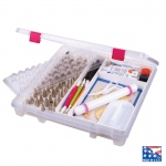 ArtBin Super Satchel Slim Cake Decorating Storage Box-Trans Clear w/Red Latches