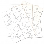 "Inovart Puzzle-It Blank Puzzles 28 Piece 5-1/2"" x 8"" - 24 puzzles Per Package"