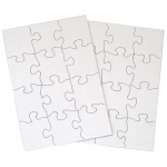 "Inovart Puzzle-It Blank Puzzles 12 Piece 5-1/2"" x 8"" - 24 puzzles per package"