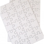 "Inovart Puzzle-It Blank Puzzles 63 Piece 8-1/2"" x 11"" 24 Per Package"