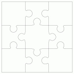 "Inovart Puzzle-It Blank Puzzles 9 Pieces 4"" x 5-1/2"" - 24 Per Package"