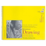 "Strathmore® 300 Series 14"" x 17"" Wire Bound Drawing Pad 50 Sheets: Wire Bound, White/Ivory, Pad, 50 Sheets, 14"" x 17"", Medium, 70 lb"