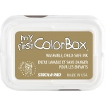 My First ColorBox® Washable Full Size Ink Pad Gold: Metallic, Pad, Dye-Based, Full Size Rectangle, (model CS68048), price per each
