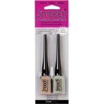 Smooch™ Pearlized Accent Ink Snicker & Moonlight: Brown, White/Ivory, Bottle, Pigment, .3 oz, (model CS70456), price per set