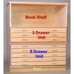 "SMI Standard Natural Finished Bookshelf for 24"" x 36"" Oak Plan File"