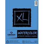"Canson® XL® 9"" x 12"" Cold Press Watercolor Pad (Fold Over): Fold Over, White/Ivory, Pad, 30 Sheets, 9"" x 12"", Cold Press, (model C100510941), price per 30 Sheets pad"