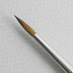 Kolinsky Sable Short Handle Round Brush # 4 (Made in Russia)