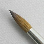 Kolinsky Sable Short Handle Round Brush # 10 (Made in Russia)