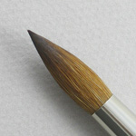 Kolinsky Sable Short Handle Round Brush # 14 (Made in Russia)