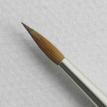 Kolinsky Sable Long Handle Round Brush # 8 (Made in Russia)