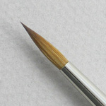 Kolinsky Sable Long Handle Round Brush # 10 (Made in Russia)