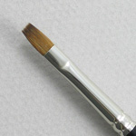Trinity Brush Kolinsky Sable Short Handle Bright Brush # 1 (Made in Russia)