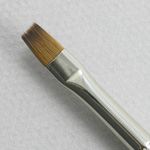 Trinity Brush Kolinsky Sable Short Handle Bright Brush # 2 (Made in Russia)