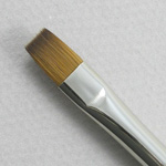 Kolinsky Sable Long Handle Bright Brush # 8 (Made in Russia)