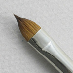 Kolinsky Sable Short Handle Filbert Brush # 6 (Made in Russia)