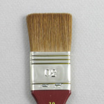 Kolinsky Sable Short Polished Handle Wide Flat Brush # 30 (Made in Russia)