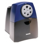 X-Acto® Teacher Pro Electric Sharpener: Black/Gray, Blue, Six, Plastic, Electric, (model 1675), price per each