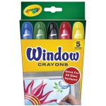 Crayola® Window Crayon 5-Color Set: Window, (model 52-9765), price per set