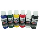 Createx™ Airbrush Primary 6-Color Set: Multi, Bottle, 2 oz, Airbrush, (model 5801-00), price per set