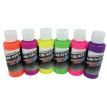 Createx™ Airbrush Fluorescent 6-Color Set: Multi, Bottle, 2 oz, Airbrush, (model 5802-00), price per set