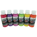 Createx™ Airbrush Pearlized 6-Color Set: Multi, Bottle, 2 oz, Airbrush, (model 5811-00), price per set