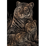 "Royal & Langnickel® Engraving Art Set Copper Foil Tiger & Cubs: 8"" x 10"", Metallic, (model COPF12), price per set"