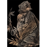 "Royal & Langnickel® Engraving Art Set Copper Foil Monkey & Baby: 8"" x 10"", Metallic, (model COPF15), price per set"