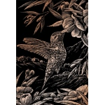 "Royal & Langnickel® Engraving Art Set Copper Foil Hummingbird: 8"" x 10"", Metallic, (model COPF17), price per set"