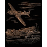 "Royal & Langnickel® Engraving Art Set Copper Foil WWII Fighter: 8"" x 10"", Metallic, (model COPF25), price per set"