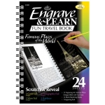 "Royal & Langnickel® Engrave & Learn Fun Travel Book Famous Places of the World: 7"" x 8 5/8"", Multi, (model EAB1), price per each"