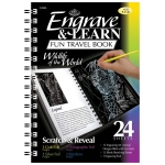 "Royal & Langnickel® Engrave & Learn Fun Travel Book Wildlife of the World: 7"" x 8 5/8"", Multi, (model EAB4), price per each"