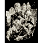"Royal & Langnickel® Engraving Art Set Glow In The Dark Foil Monster: 8"" x 10"", Glow in the Dark, (model GLO11), price per set"